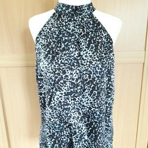 LAUNDRY by SHELLI SEGAL HALTER TOP BLOUSE SIZE 6